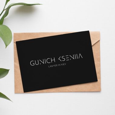 Разработка логотипа для GUNICH KSENIIA