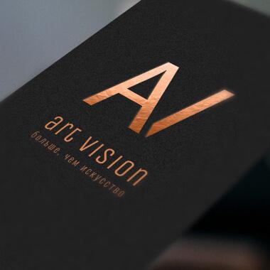 Разработка логотипа для ART VISION