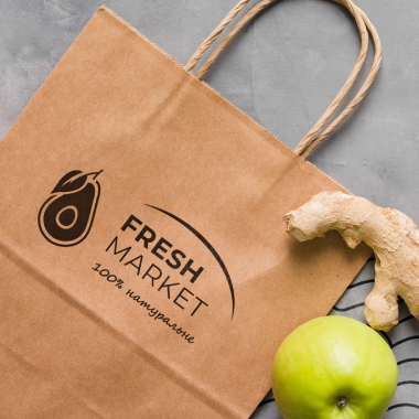 Разработка логотипа для Fresh Market