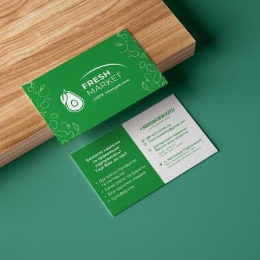 Дизайн визиток для Fresh Market