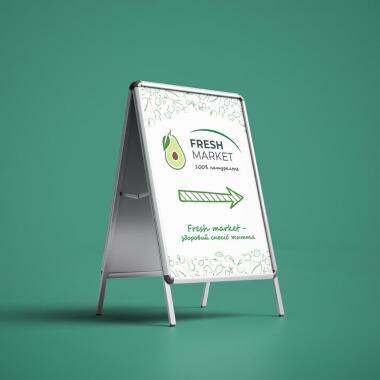Дизайн наклейки для штендера