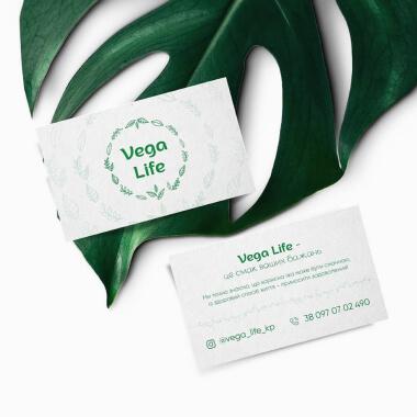 Дизайн визиток для Vega Life